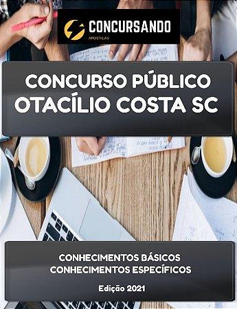 APOSTILA PREFEITURA DE OTACÍLIO COSTA SC 2021 ENGENHEIRO AGRIMENSOR