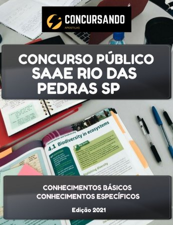 APOSTILA SAAE RIO DAS PEDRAS SP 2021 TÉCNICO EM QUÍMICA