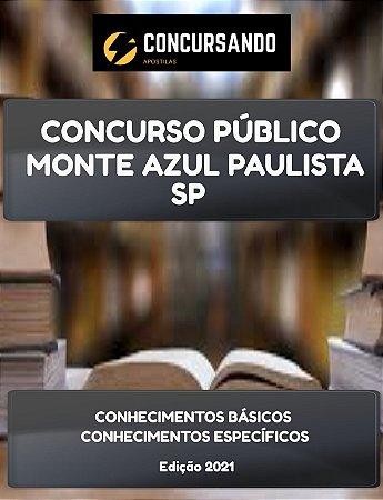 APOSTILA PREFEITURA DE MONTE AZUL PAULISTA SP 2021 PEB II INGLÊS