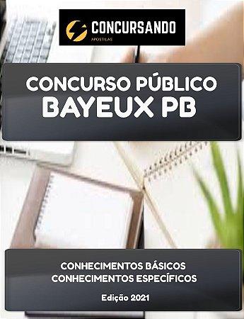 APOSTILA PREFEITURA DE BAYEUX PB 2021 FISIOTERAPEUTA