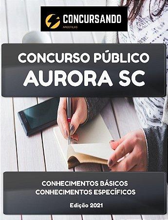 APOSTILA PREFEITURA DE AURORA SC 2021 PROFESSOR II - INGLÊS