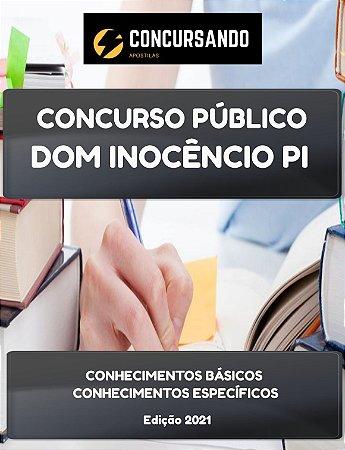 APOSTILA PREFEITURA DE DOM INOCÊNCIO PI 2021 MÉDICO VETERINÁRIO