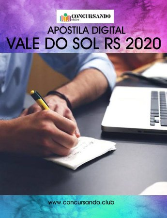 APOSTILA PREFEITURA DE VALE DO SOL RS 2020 AUXILIAR DE EDUCAÇÃO