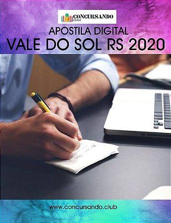 APOSTILA PREFEITURA DE VALE DO SOL RS 2020 PROFESSOR ÁREA II - LETRAS PORTUGUÊS COM ESPANHOL