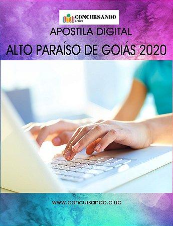 APOSTILA PREFEITURA DE ALTO PARAÍSO DE GOIÁS GO 2020 PROFESSOR PEDAGOGO