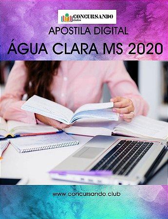 APOSTILA PREFEITURA DE ÁGUA CLARA MS 2020 ENGENHEIRO CIVIL