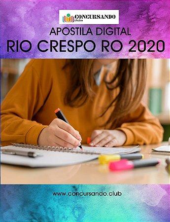 APOSTILA CÂMARA DE RIO CRESPO RO 2020 CONTROLADOR INTERNO