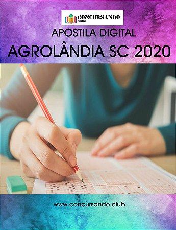 APOSTILA PREFEITURA DE AGROLÂNDIA SC 2020 NUTRICIONISTA