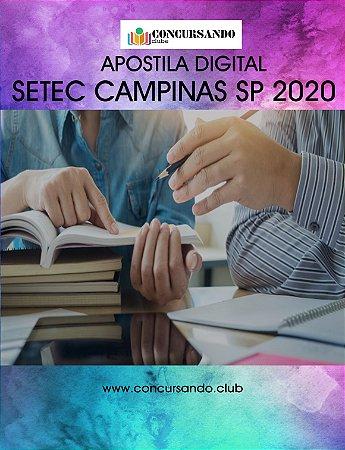 APOSTILA SETEC CAMPINAS SP 2020 AGENTE DE FISCALIZAÇÃO