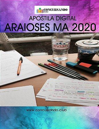 Apostila PREFEITURA DE ARAIOSES MA 2020 Engenheiro Agrônomo
