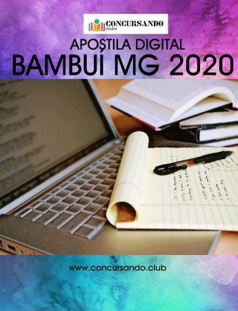 APOSTILA PREFEITURA DE BAMBUÍ MG 2020 ENGENHEIRO CIVIL