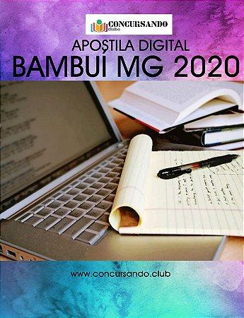 APOSTILA PREFEITURA DE BAMBUÍ MG 2020 SECRETÁRIO ESCOLAR