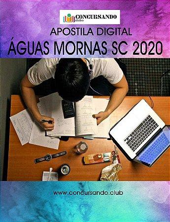 APOSTILA PREFEITURA DE ÁGUAS MORNAS SC 2020 BIBLIOTECÁRIO