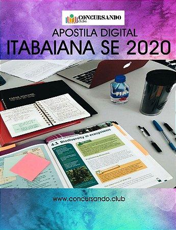APOSTILA PREFEITURA DE ITABAIANA SE 2020 ENGENHEIRO CIVIL
