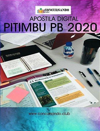 APOSTILA PREFEITURA DE PITIMBU PB 2020 NUTRICIONISTA
