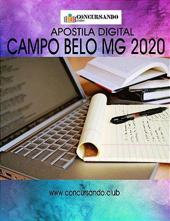 APOSTILA PREFEITURA DE CAMPO BELO MG 2020 ANALISTA EM GESTÃO PÚBLICA