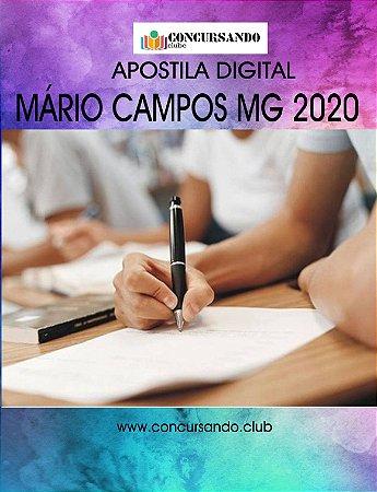 APOSTILA PREFEITURA DE MÁRIO CAMPOS MG 2020 ENGENHEIRO CIVIL