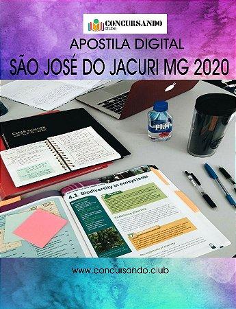 APOSTILA PREFEITURA DE SÃO JOSÉ DO JACURI MG 2020 PROFESSOR DE MATEMÁTICA PEB II