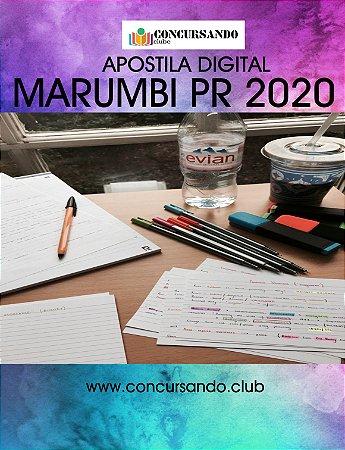 APOSTILA CÂMARA DE MARUMBI PR 2020 CONTADOR