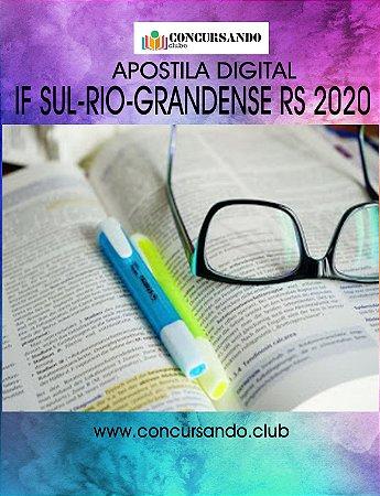 APOSTILA IF SUL-RIO-GRANDENSE RS 2020 SOCIOLOGIA