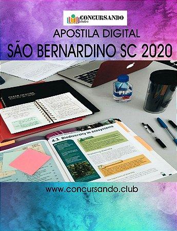 APOSTILA PREFEITURA DE SÃO BERNARDINO SC 2020 AGENTE DE COMBATE ÀS ENDEMIAS