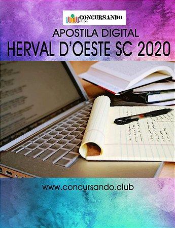 APOSTILA PREFEITURA DE HERVAL D'OESTE SC 2020 TÉCNICO EM TRIBUTAÇÃO