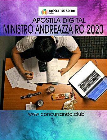 APOSTILA PREFEITURA DE MINISTRO ANDREAZZA RO 2020 PSICÓLOGO