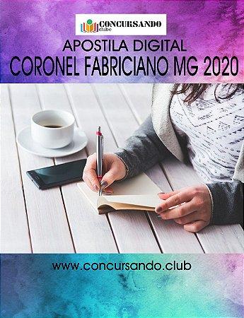 APOSTILA PREFEITURA DE CORONEL FABRICIANO MG 2020 NUTRICIONISTA