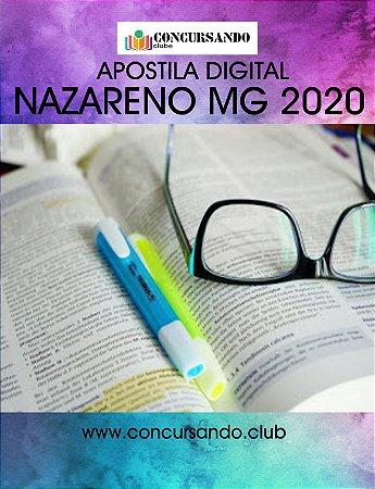 APOSTILA PREFEITURA DE NAZARENO MG 2020 ENGENHEIRO CIVIL