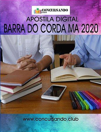 APOSTILA PREFEITURA DE BARRA DO CORDA MA 2020 TÉCNICO EM EDIFICAÇÕES