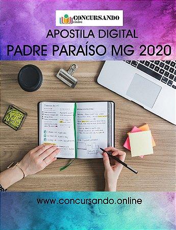APOSTILA PREFEITURA DE PADRE PARAÍSO MG 2020 PROFESSOR - MEB I E MEB II