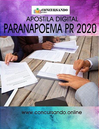 APOSTILA PREFEITURA DE PARANAPOEMA PR 2020 ASSISTENTE SOCIAL