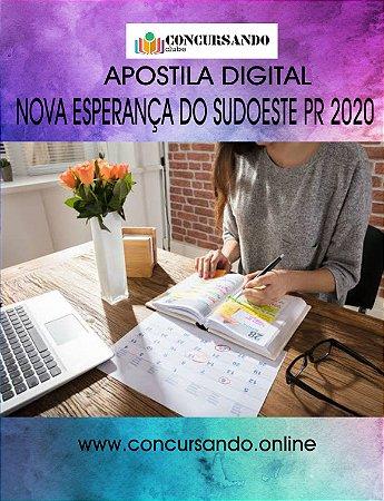 APOSTILA CÂMARA DE NOVA ESPERANÇA DO SUDOESTE PR 2020 CONTADOR LEGISLATIVO