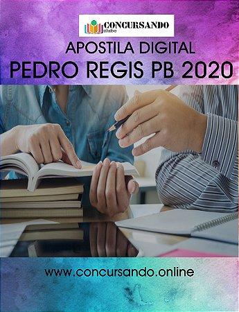 APOSTILA PREFEITURA DE PEDRO REGIS PB 2020 PROFESSOR DE EDUCAÇÃO BÁSICA 2 - FUNDAMENTAL DO 6º AO 9º ANO LIBRAS