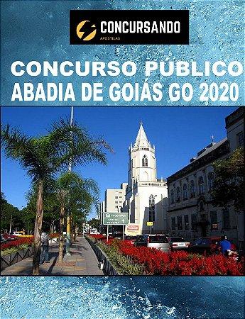 APOSTILA PREFEITURA ABADIA DE GOIÁS GO 2020 FISIOTERAPEUTA