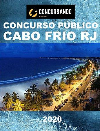 APOSTILA PREFEITURA DE CABO FRIO RJ 2020 PSICÓLOGO