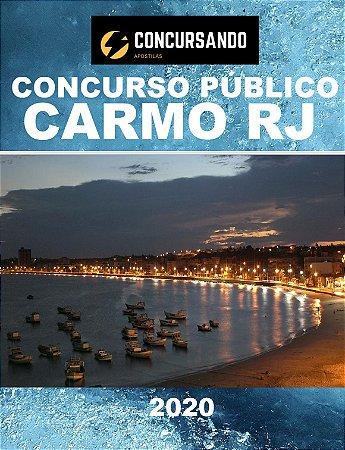 APOSTILA PREFEITURA DE CARMO RJ 2020 ASSISTENTE SOCIAL