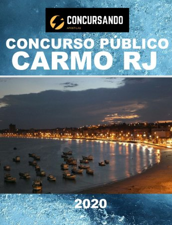 APOSTILA PREFEITURA DE CARMO RJ 2020 GUARDA MUNICIPAL