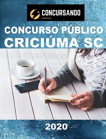 APOSTILA PREFEITURA DE CRICIÚMA SC 2020 PROFESSOR BILÍNGUE E/OU INTÉRPRETE DE LIBRAS