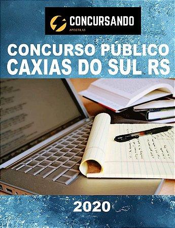 APOSTILA PREFEITURA DE CAXIAS DO SUL RS 2020 PROFESSOR DE ARTE