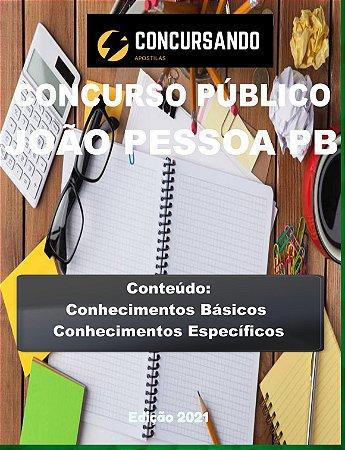 APOSTILA PREFEITURA DE JOÃO PESSOA PB 2021 FISIOTERAPEUTA
