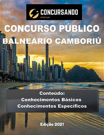 APOSTILA PREFEITURA DE BALNEÁRIO CAMBORIÚ SC 2021 NUTRICIONISTA