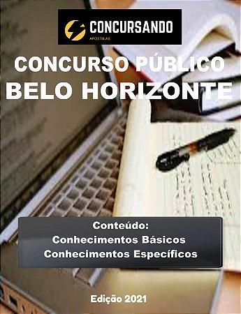APOSTILA PREFEITURA DE BELO HORIZONTE MG 2021 TÉCNICO DE SERVIÇOS DE SAÚDE - TÉCNICO DE LABORATÓRIO