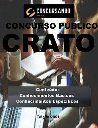 APOSTILA PREFEITURA DE CRATO CE 2021 ORIENTADOR EDUCACIONAL (ASSISTÊNCIA SOCIAL)