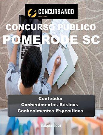 APOSTILA PREFEITURA DE POMERODE SC 2021 ASSISTENTE SOCIAL
