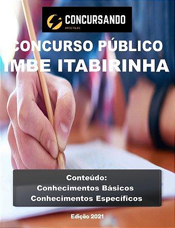 APOSTILA PREFEITURA DE ITABIRINHA MG 2021 PROFESSOR DE EDUCAÇÃO FÍSICA