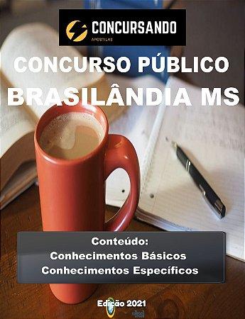 APOSTILA PREFEITURA DE BRASILÂNDIA MS 2021 PROFESSOR DE ARTES