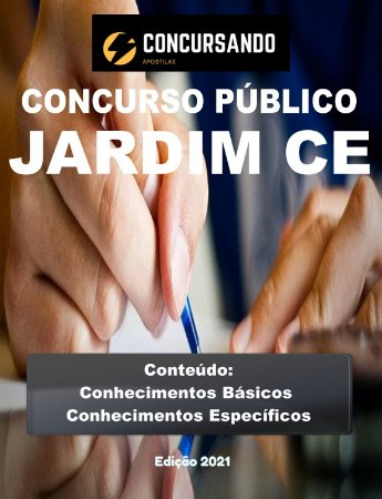 APOSTILA PREFEITURA DE JARDIM CE 2021 ENGENHEIRO SANITARISTA E AMBIENTAL