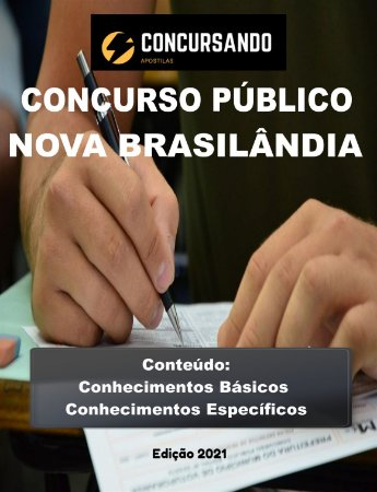 APOSTILA PREFEITURA DE NOVA BRASILÂNDIA D'OESTE RO 2021 PROFESSOR DE HISTÓRIA