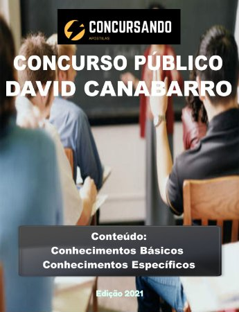 Apostila PREFEITURA DE DAVID CANABARRO RS 2021 Agente de Saúde